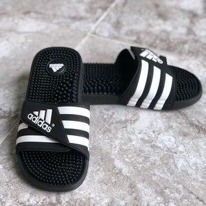 Adidas Adissage Slides Black Slip On Sandals